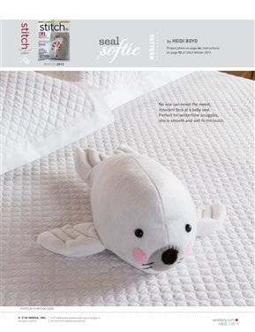 3193e50575bf Seal Softie: Free Sewing Pattern | Stuff I want to SEW | Animal ...