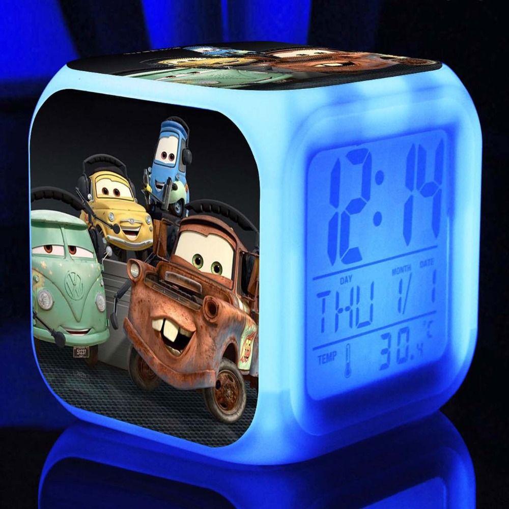 Car decoration toys  Pixar Cars Digital Alarm ClocksD Film Pixar Cars Alarm Clock For