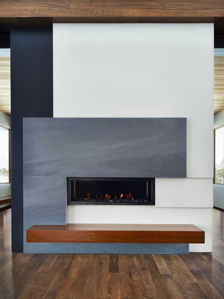 This gorgeous fireplace was completed by The Stone Collection - chimeneas modernas