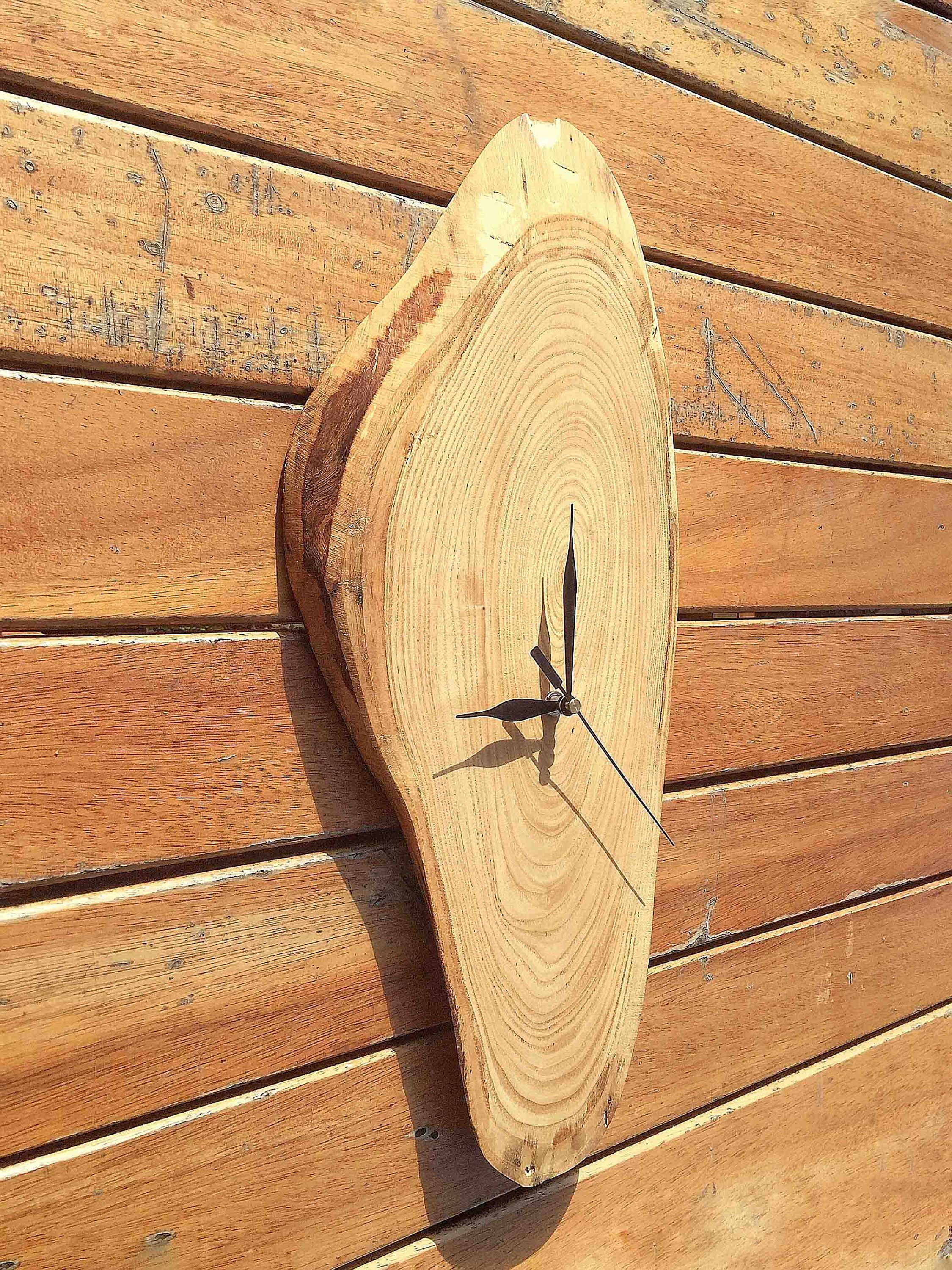 Rustic Wood Wall Clock, Large Wooden Wall Clock, Clocks For Wall ...