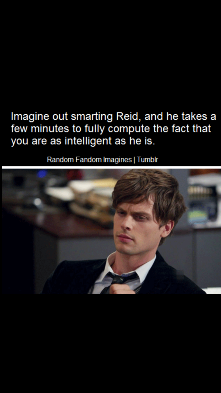 Pin by Kaitlyn York on Imagines | Criminal minds funny, Spencer reid