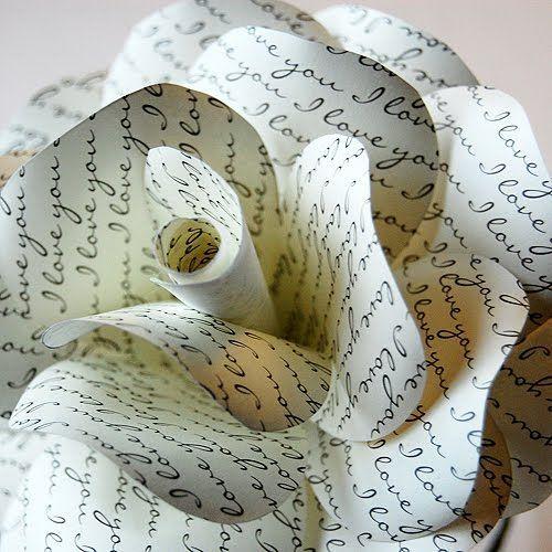 DIY 'I Love You' Paper Rose