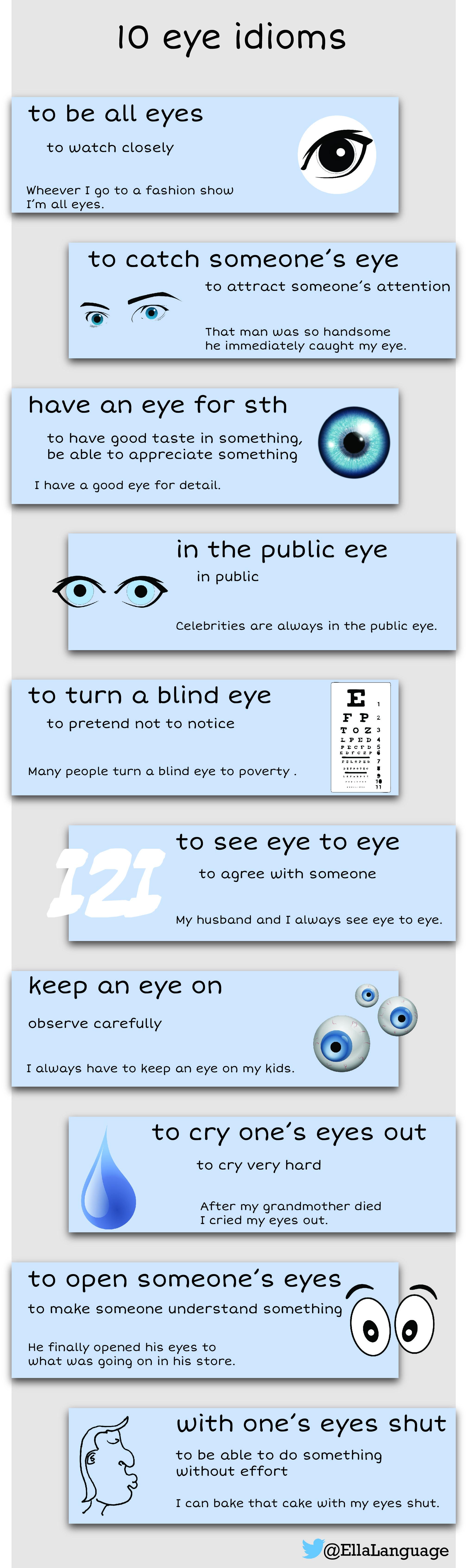 10 Eye Idioms Esl Elt Idioms