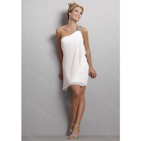 Robe blanche courte en soie