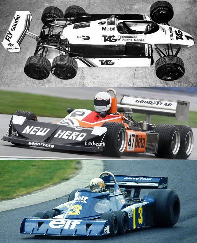 Image result for 6 wheel f1 cars at goodwood