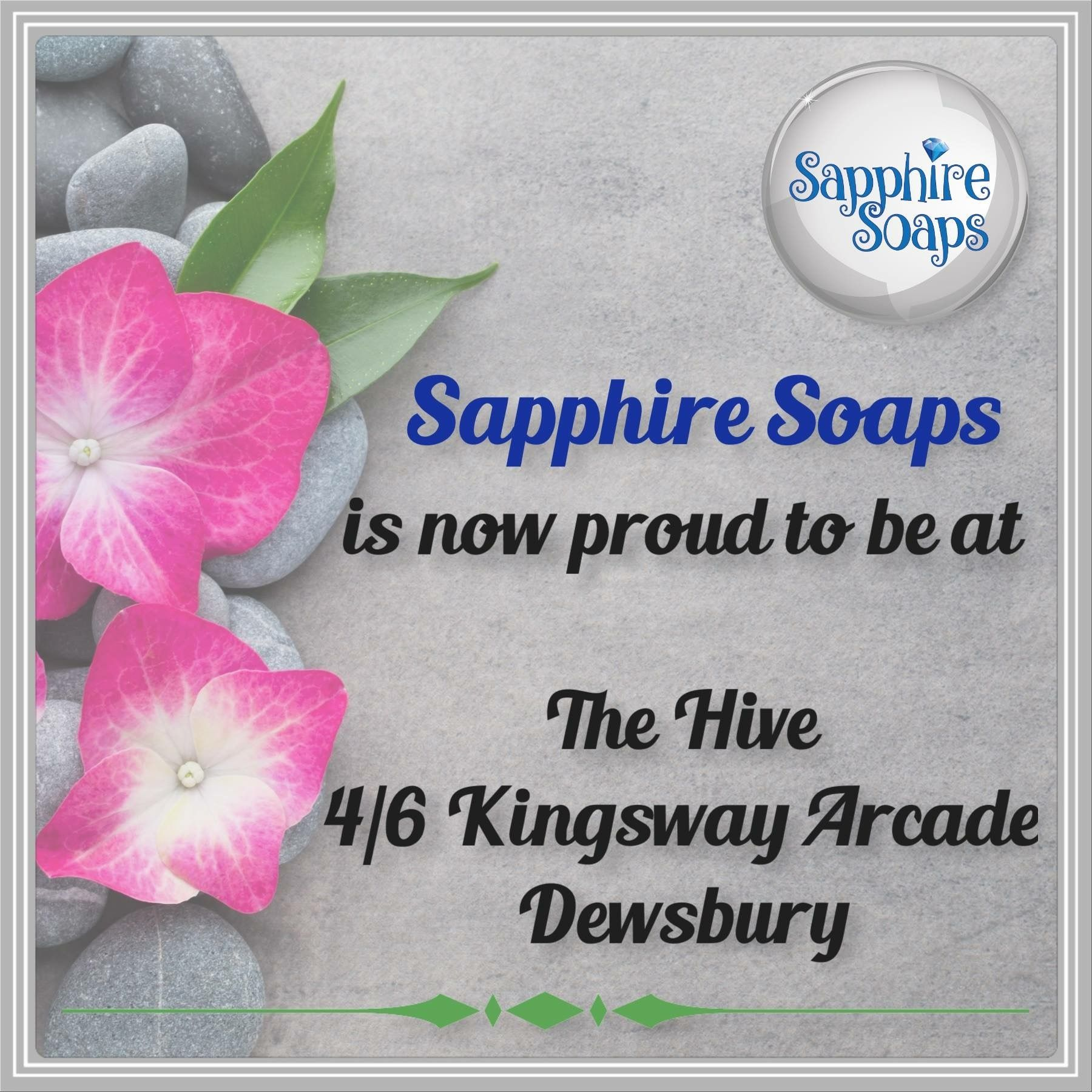 Sapphire Soaps Is Very Pleased To Now Have Their Soaps Available To