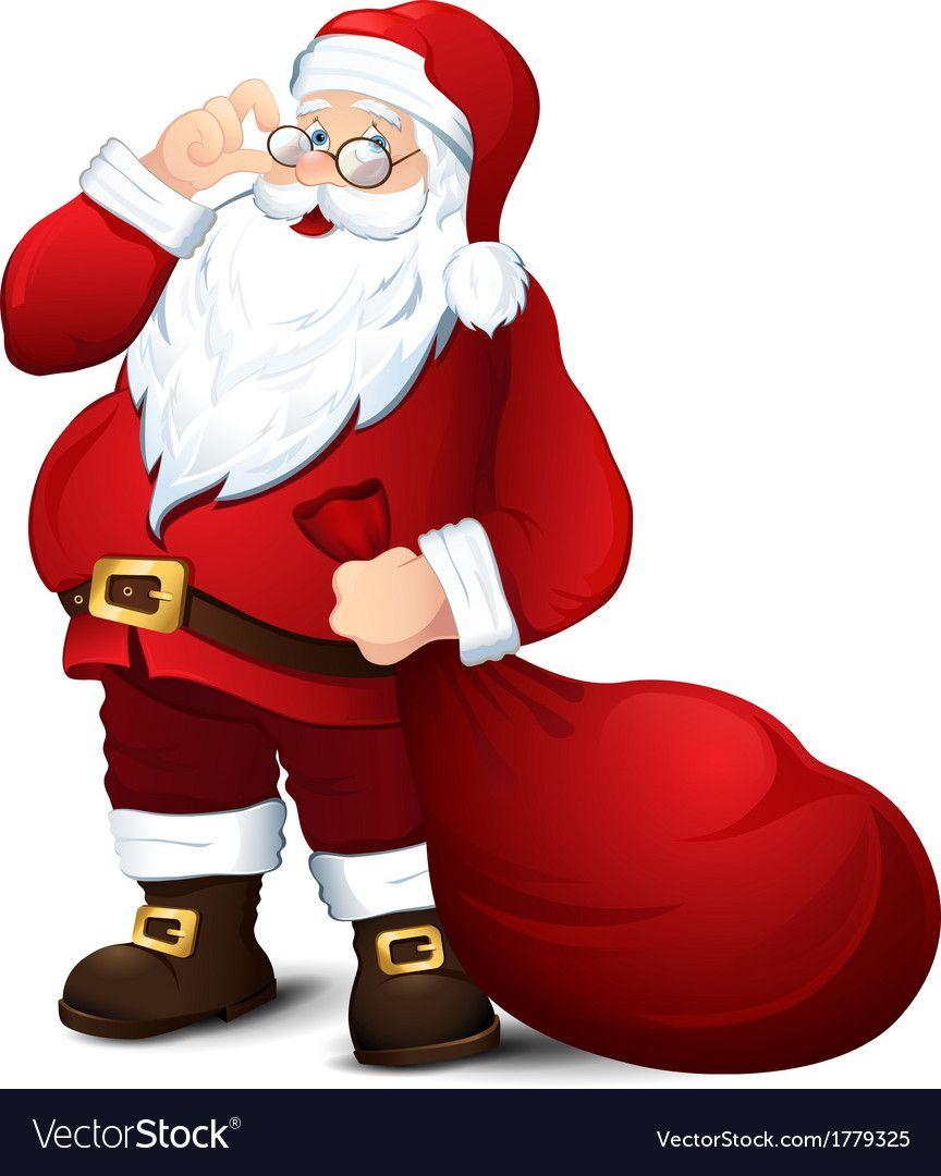 Vector Illustration To Christmas With Isolated Santa Claus Download A Free Preview Or High Quality Adobe Illu Fotos De Feliz Natal Pintura De Natal Papai Noel