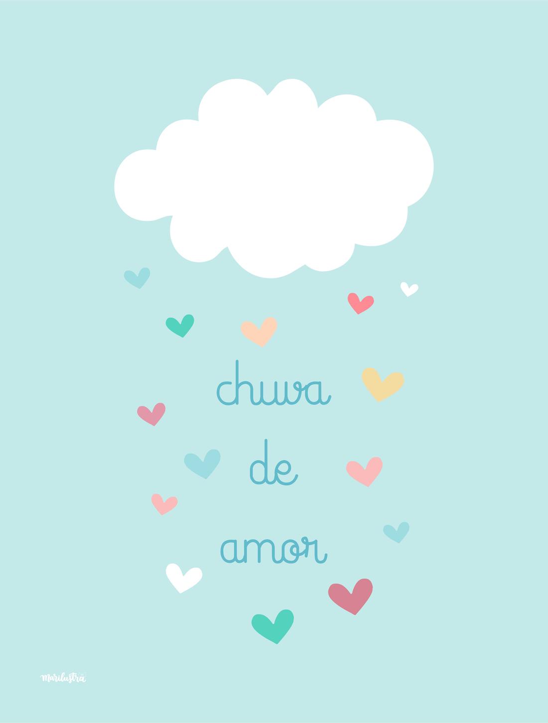 Chuva De Amor Marilustra Frases Baby Decor Baby
