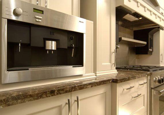Moulding Above Range Hood, But A Custom Mid Mod Design Would Be Cool Empire  Kitchen U0026 Bath