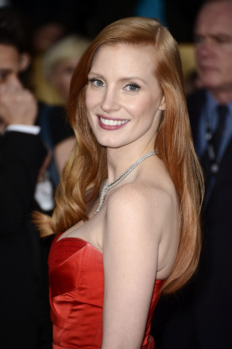 The Gorgeous Jessica Chastain Hair Color Formulas Redhead Hairstyles Shades Of Red Hair