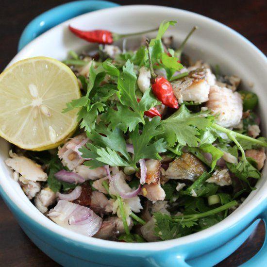 Yum Pla Tu Thai Spicy Mackerel Salad