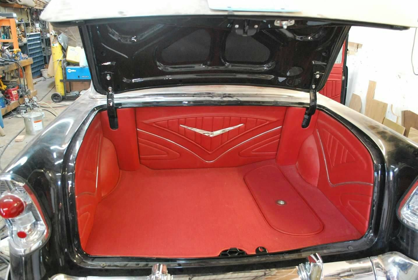 Carpet Entire Trunk Without Panels Trifive Com 1955 Chevy 1956 Chevy 1957 Chevy Forum Talk About You Custom Car Interior Automotive Upholstery 1955 Chevy