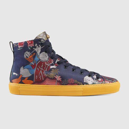 f6c75c90849c GUCCI Donald Duck Jacquard High-Top Sneaker. #gucci #shoes #men's sneakers