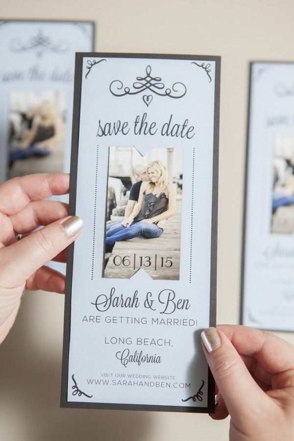 Magnet Save the Date - Free Printable + Tutorial | Turquoise, Save ...