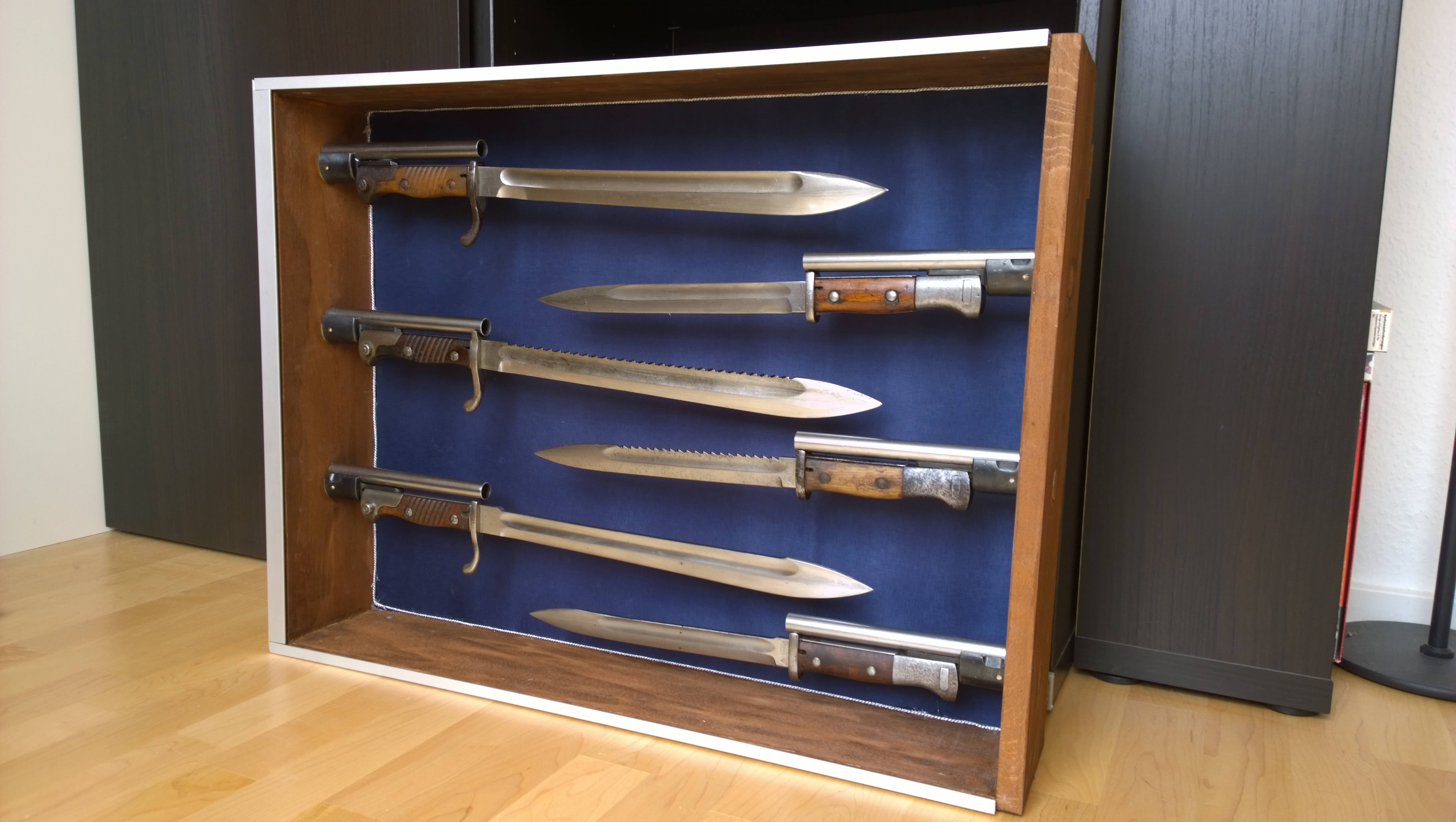 A Bayonet Display Case I Built For Parts Of My Collection Https Ift Tt 2pfik75 Display Case Bayonet Display