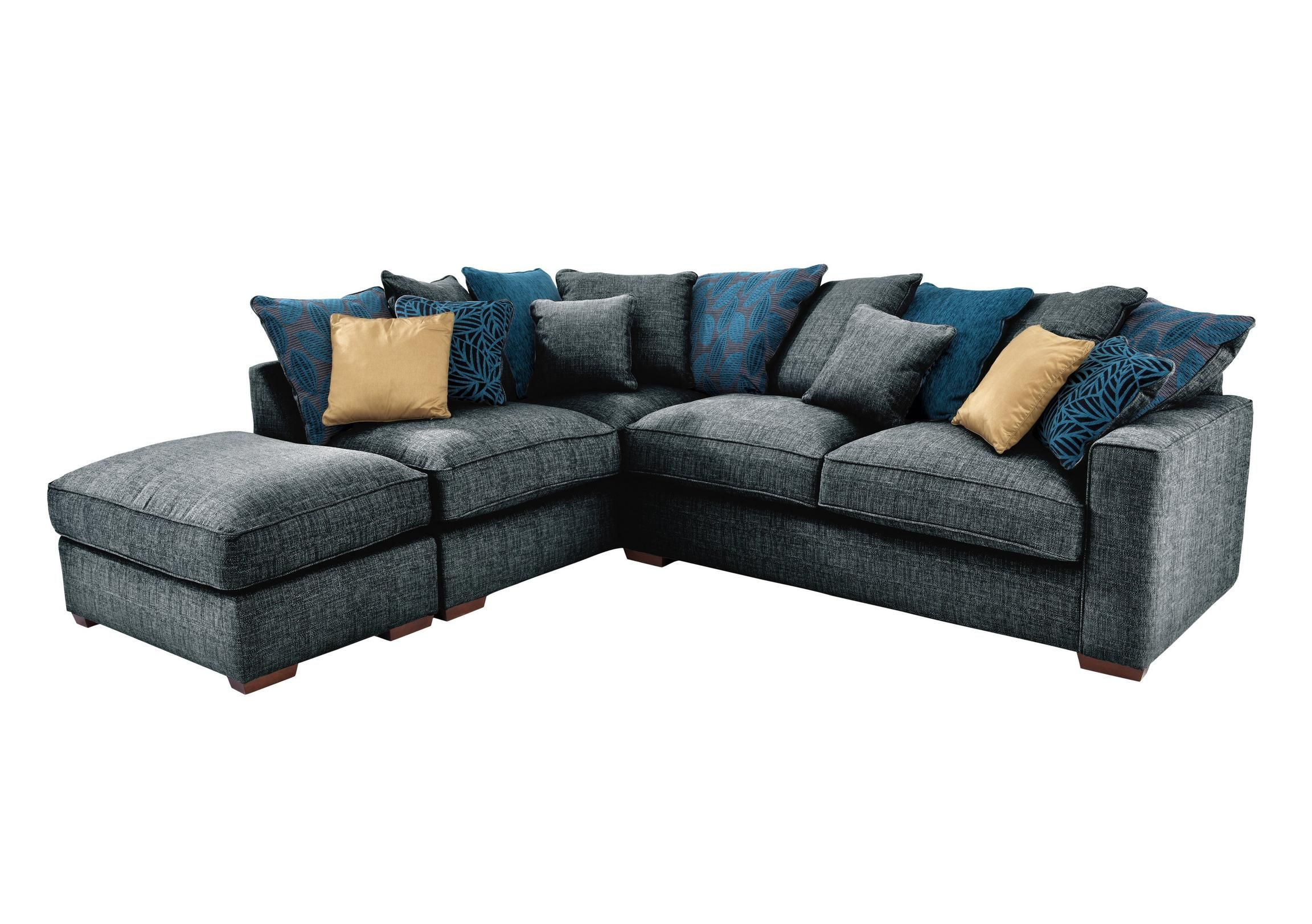 Shop now for the Dune Fabric Corner Sofa with Footstool