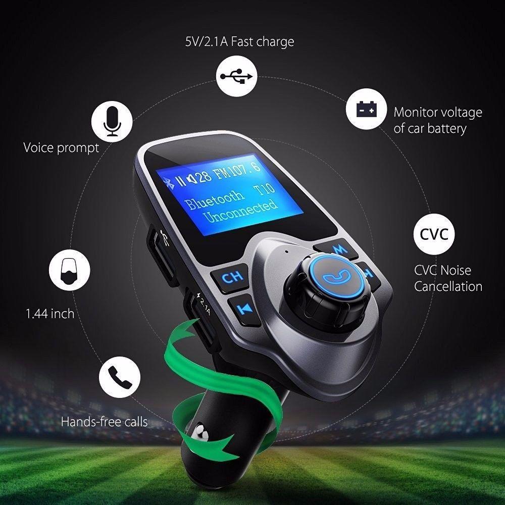 Car FM Transmitter Wireless Bluetooth MP3 Player Adapter Radio Kit USB Charger