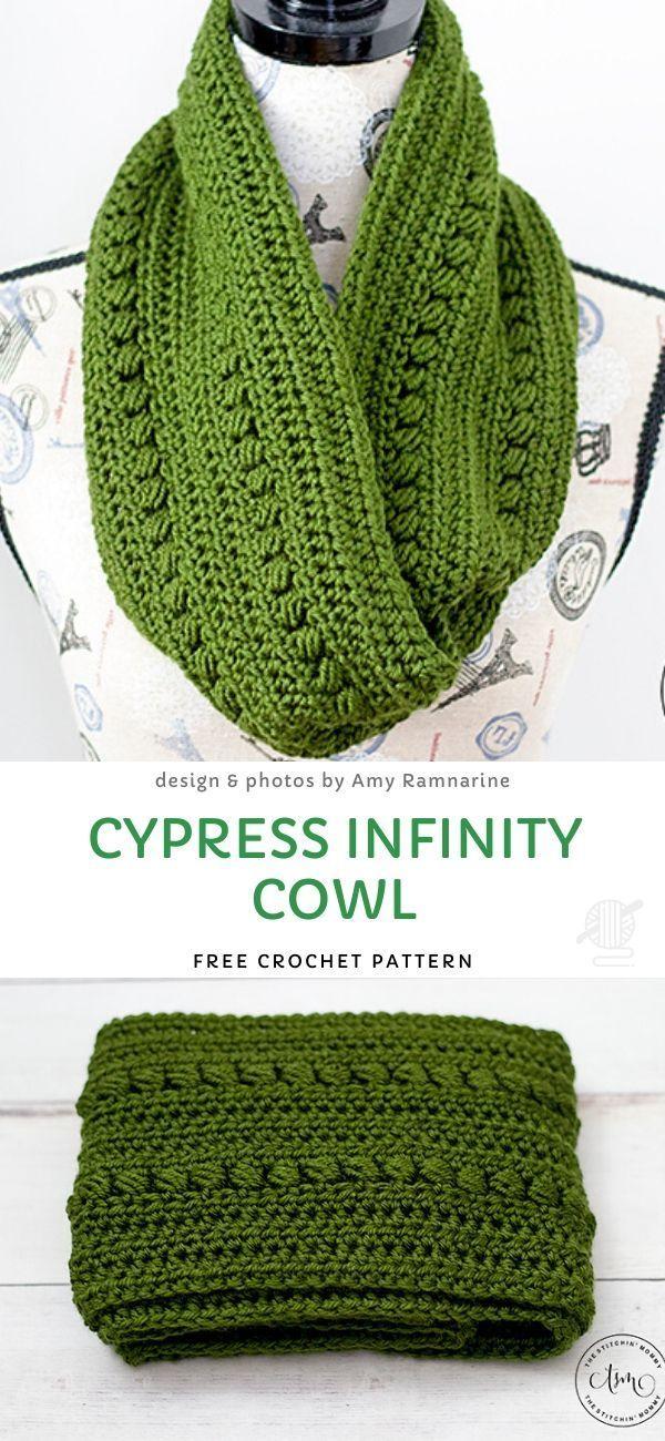 Cypress Infinity Cowl Free Crochet Pattern