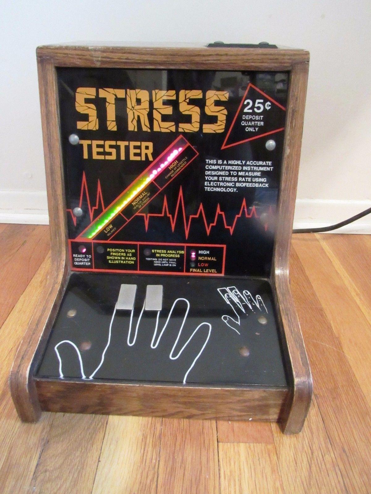 Vintage Stress Tester Impulse Coin Op Game Room Vending