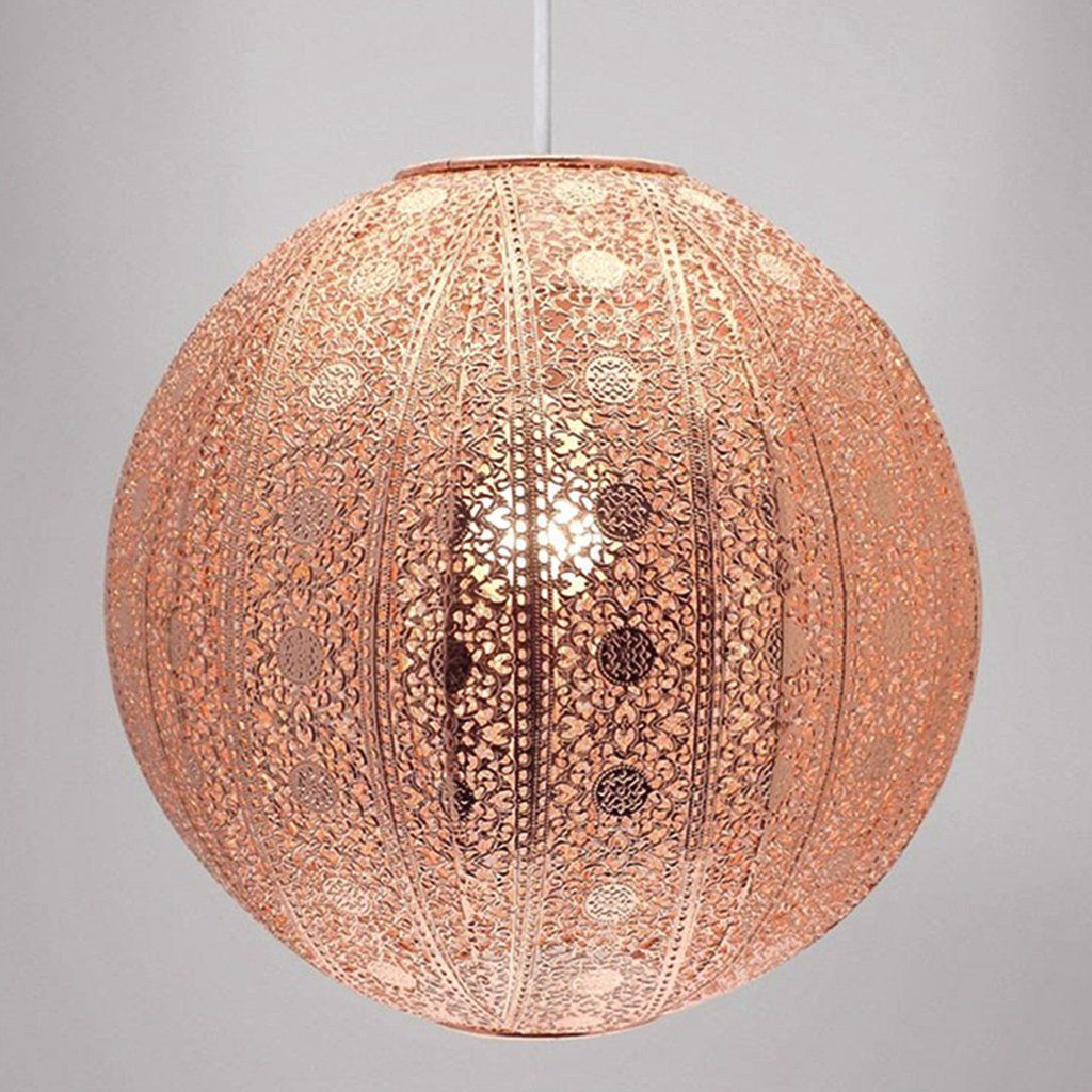 Moroccan Inspired Copper Pendant Light Shade Pasx Uk