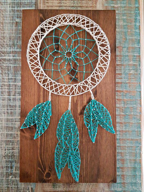 Dream catcher string art coisas giras pinterest for String craft patterns