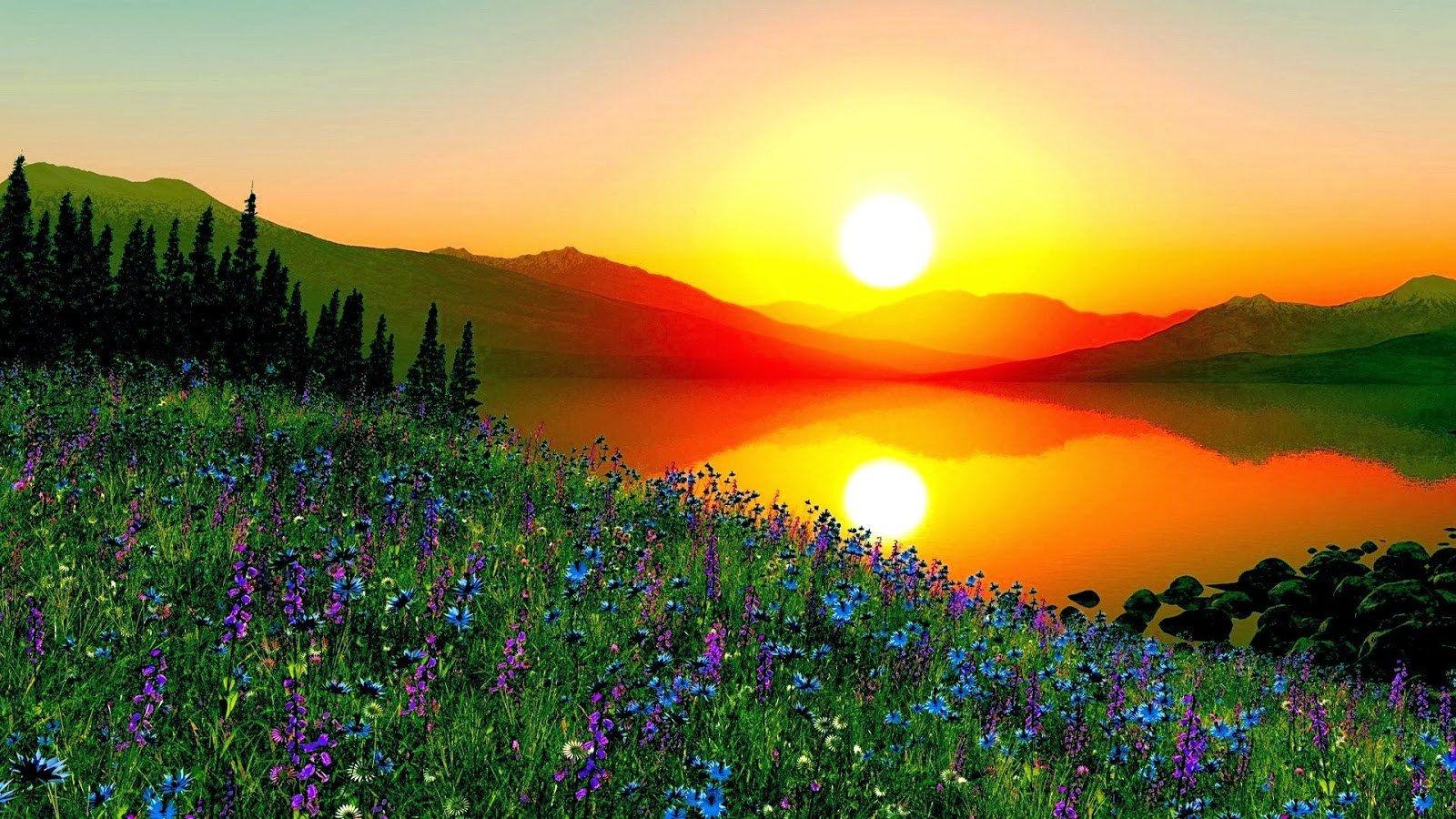 A Corner Of The Beauty Of Nature Sunrise Wallpaper Sunrise Beautiful Sunrise