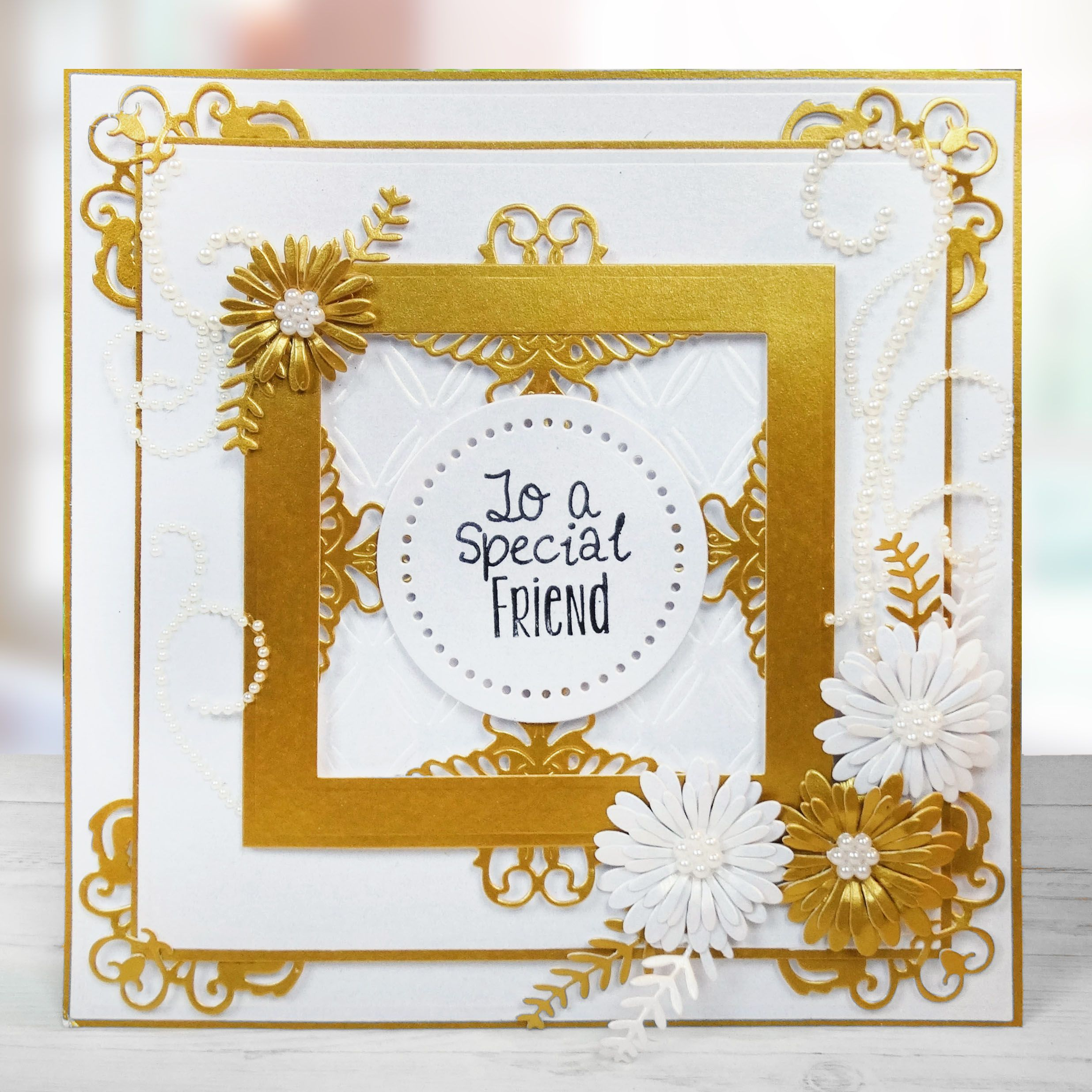 To a special friend handmade card from tattered lace available at