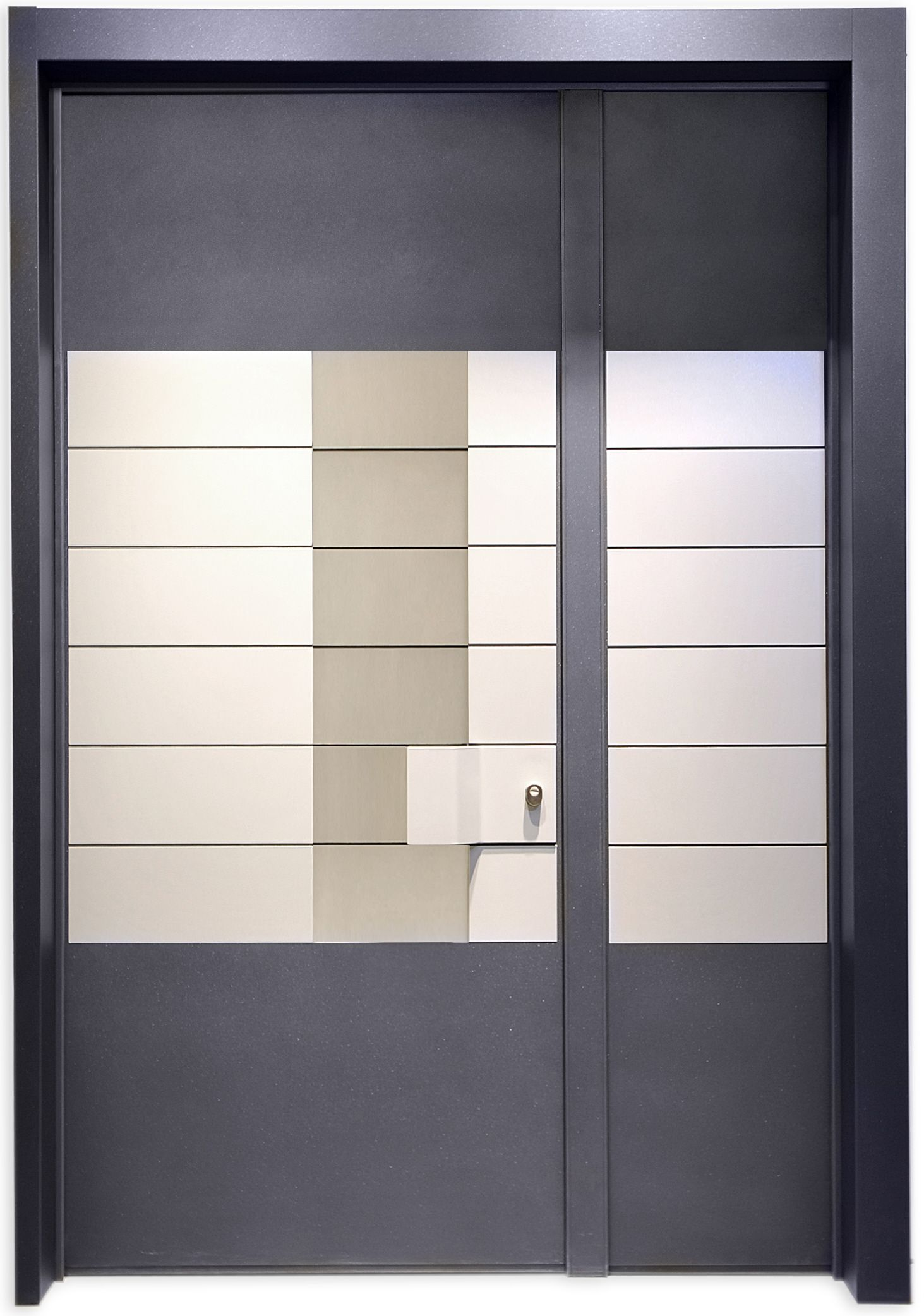 The one and a Half wing Rowena Door is the product of the space concept as a raw element for the creation of the interior design, without any need for decorations or excessive details.  The inspiration is contemporary, with clean lines, a clear geometry, large spaces, innovation and breaking rules.