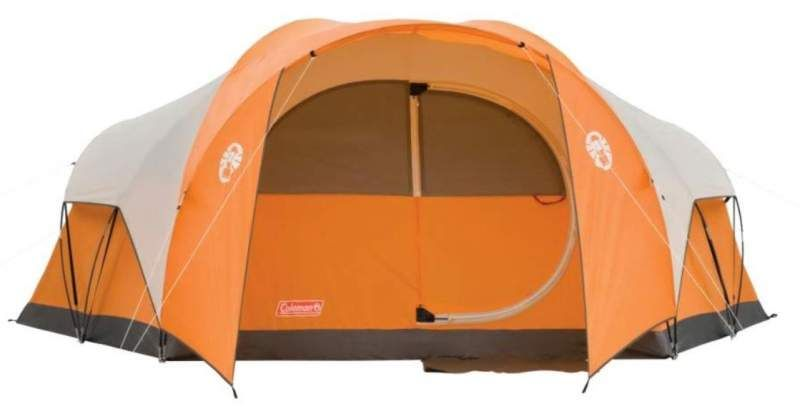 Coleman Bayside 8 Person Tent Review Hinged Door Closet In 2020 8 Person Tent Tent Reviews Tent