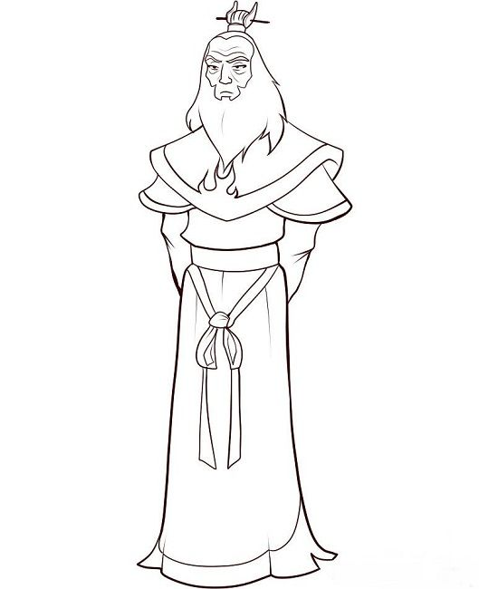 avatar roku coloring pages | Anime | Pinterest