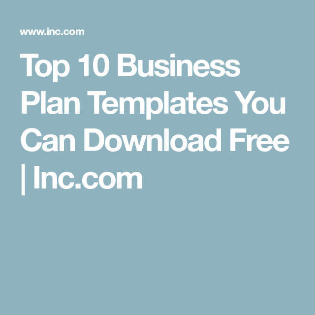 Top Business Plan Templates You Can Download Free Pinterest - Top 10 business plan templates