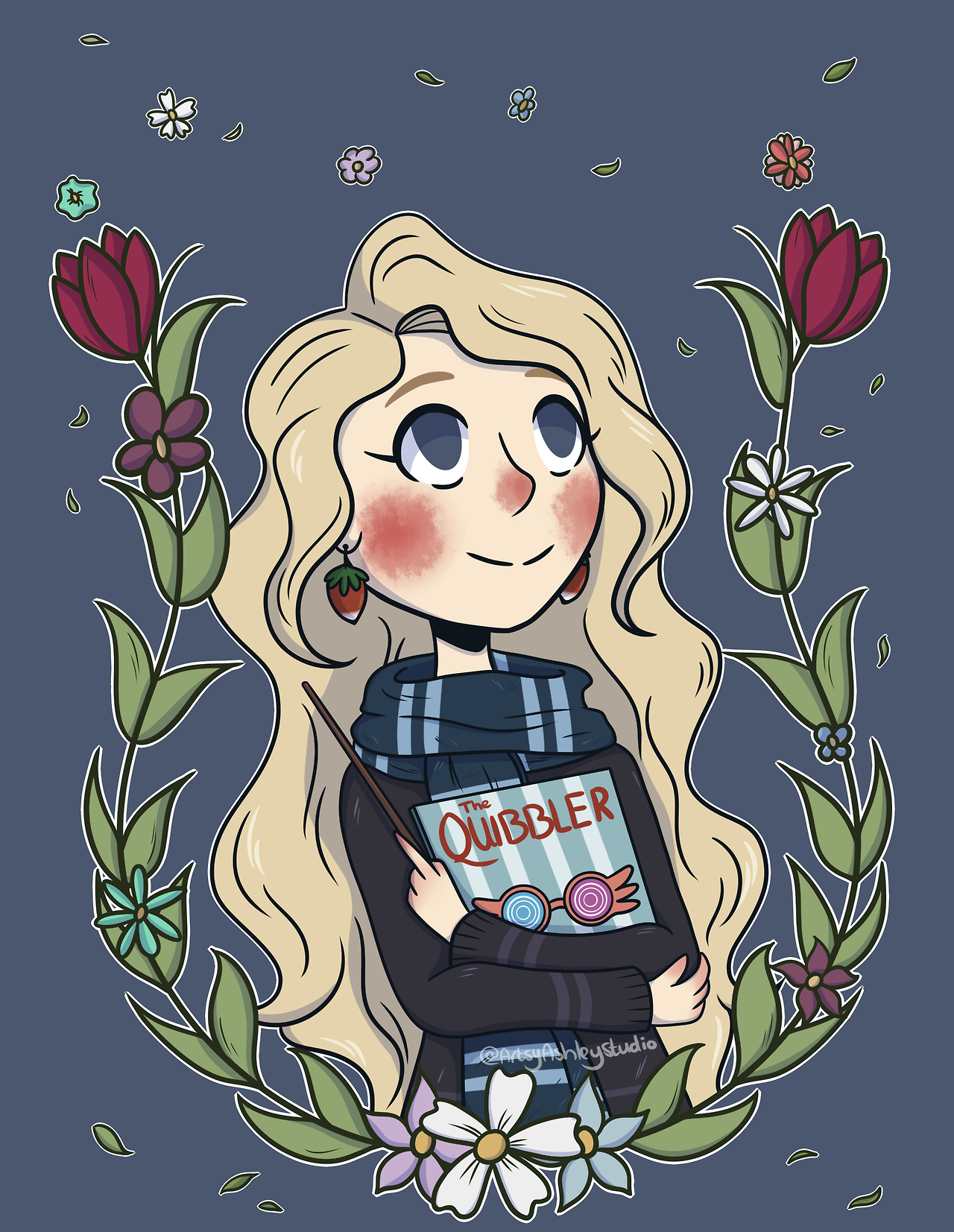 Fanart Luna Luna Lovegood Harry Potter Harry Potter Fan Art Wizard Illustration Drawing D Harry Potter Fan Art Harry Potter Luna Lovegood Harry Potter Drawings