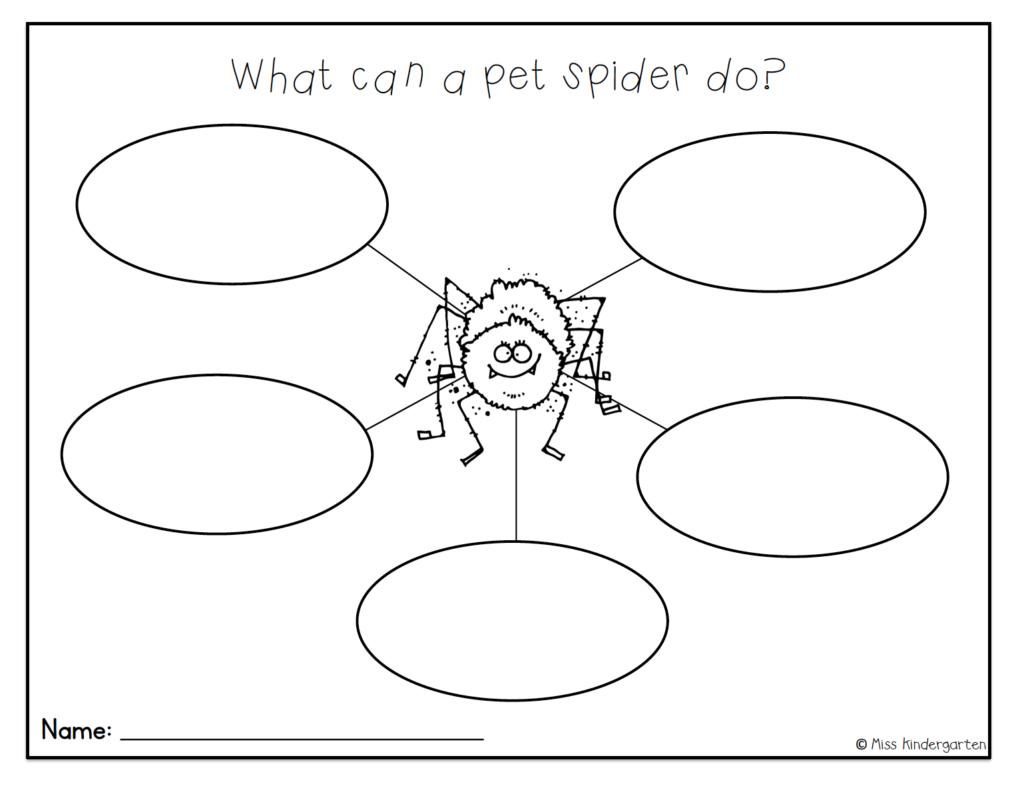Argh Spider Craft Math And Writing Activities Miss Kindergarten Miss Kindergarten Writing Activities Spider Crafts [ 786 x 1024 Pixel ]