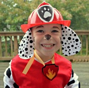 Easy Halloween Body Art Paw Patrol Costume - Marshall paw patrol, Paw patrol halloween costume, Paw patrol costume, Marshall paw patrol costume, Diy costumes kids, Marshall costume - Turn a kiddo into a dalmatian like Marshall from Paw Patrol using Tulip Body Art!