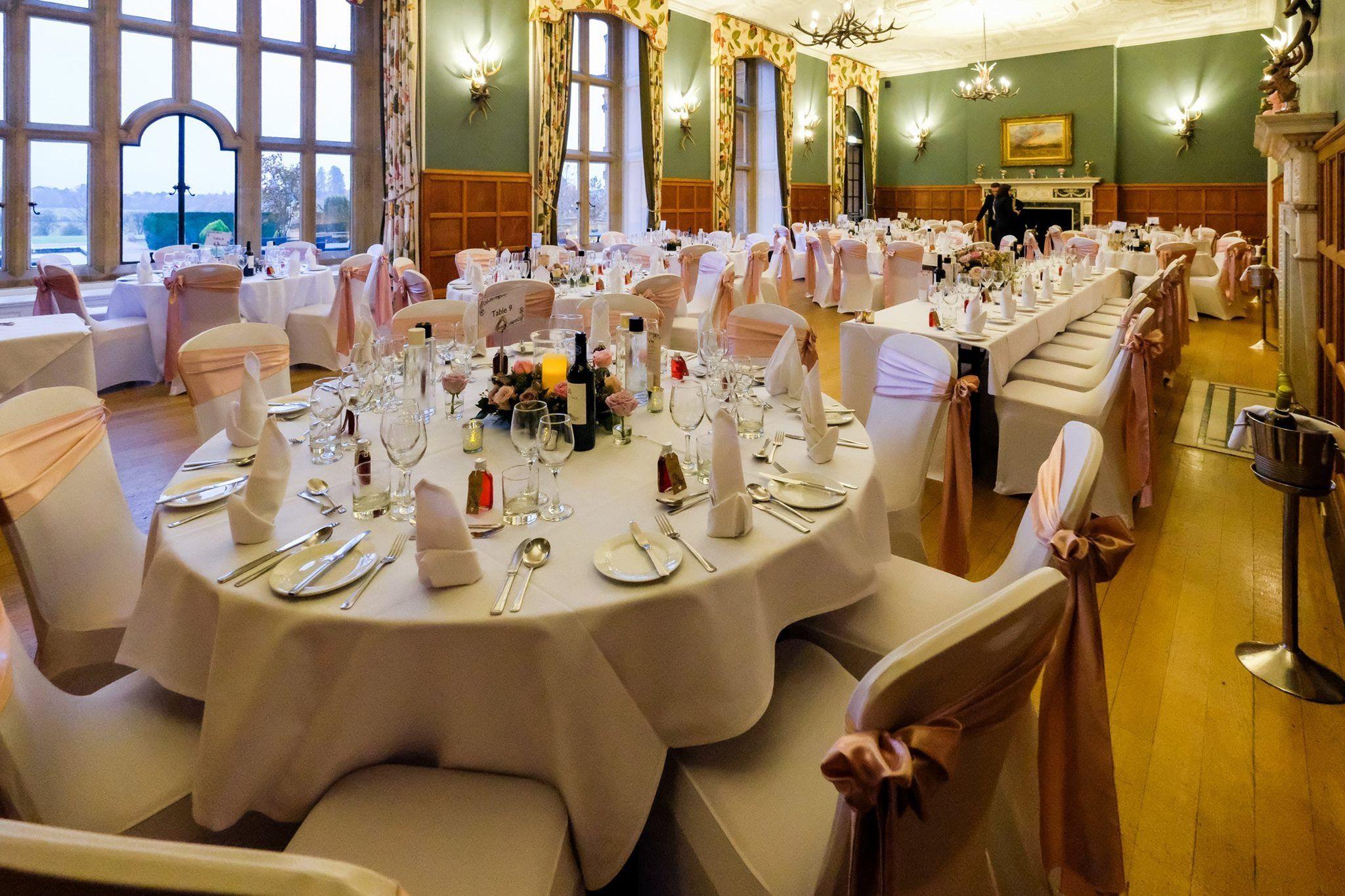 Dressing the venue...we had our reception at Eynsham Hall. i was ...