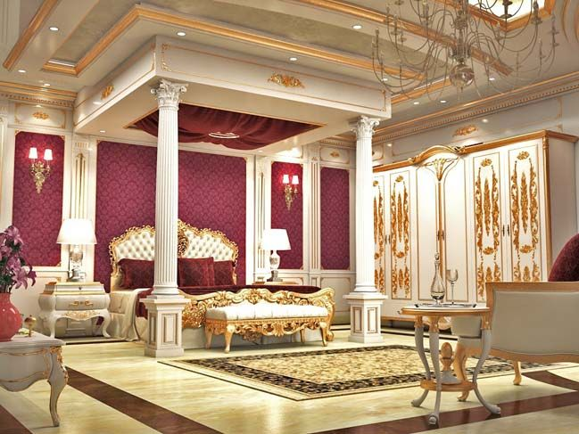 luxury master bedroom design in classic style - Luxury Master Suite