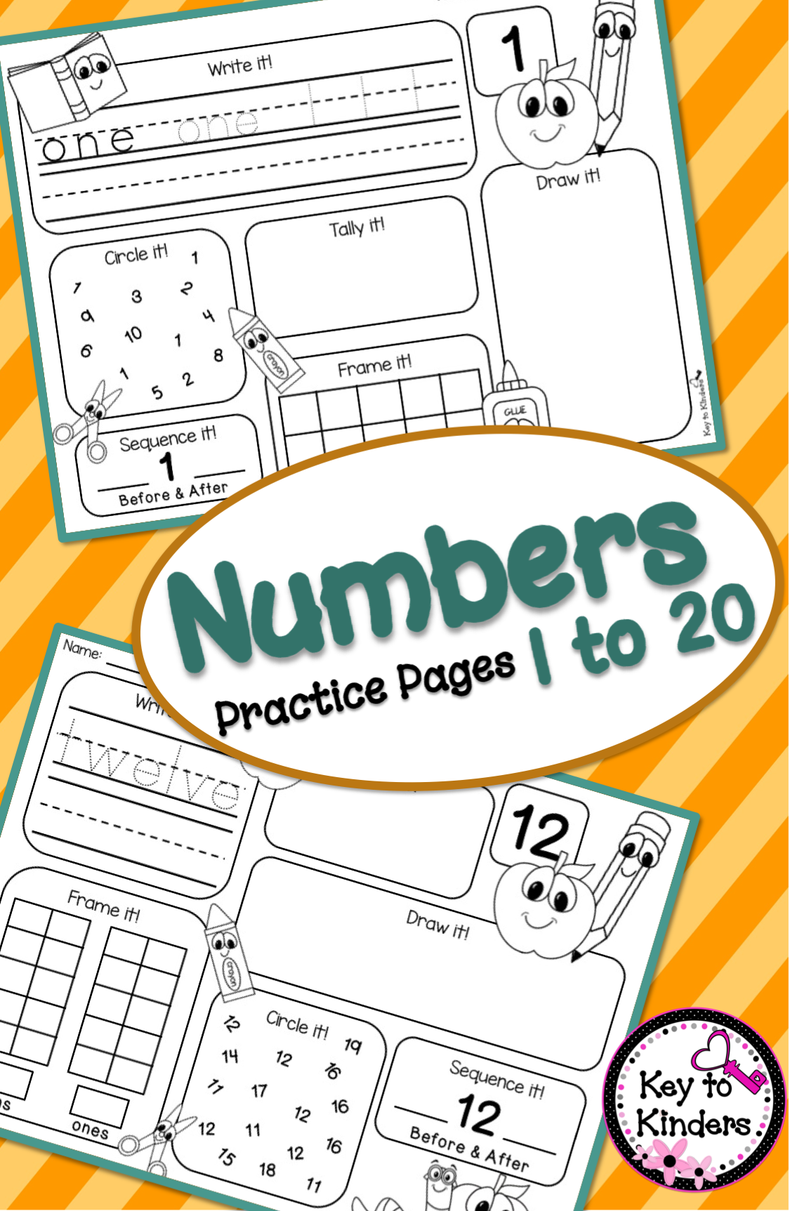 Number Sense Amp More 1 20 No Prep Printables