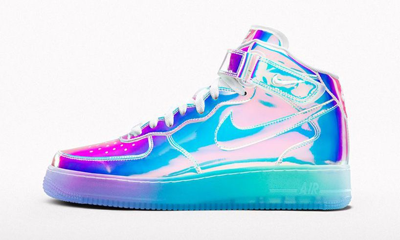nike air force 1 id iridescent nail