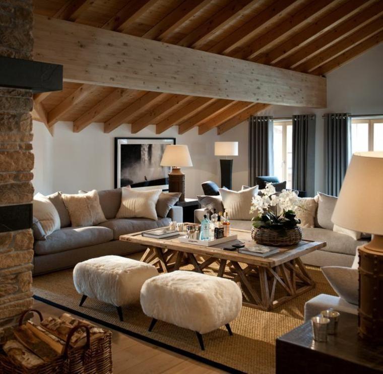 Rustikale Wohnzimmer   eine gemütliche rustikale Einrichtung für das Wohnzimmer   Neue ...