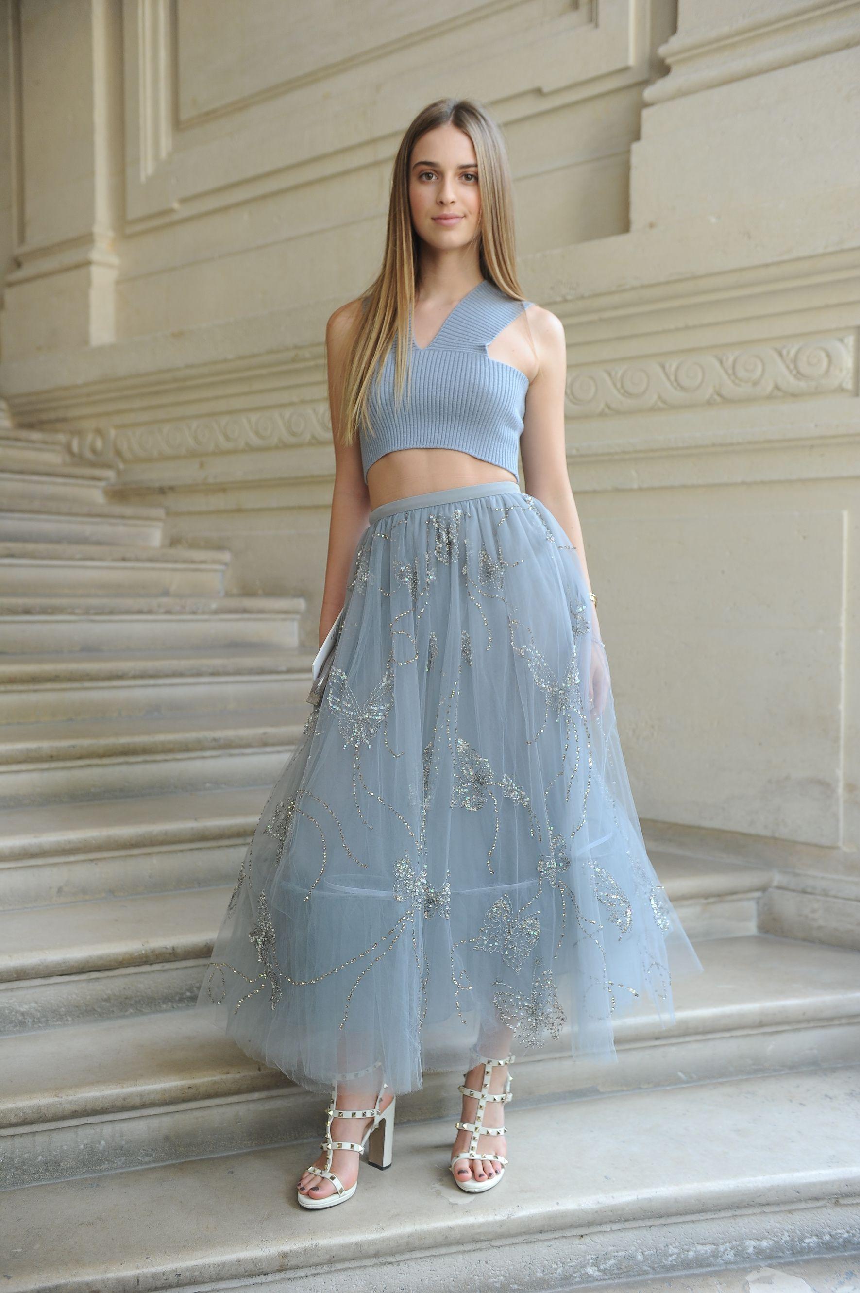 Talita Von Furstenberg wearing a Valentino dress from the Fall