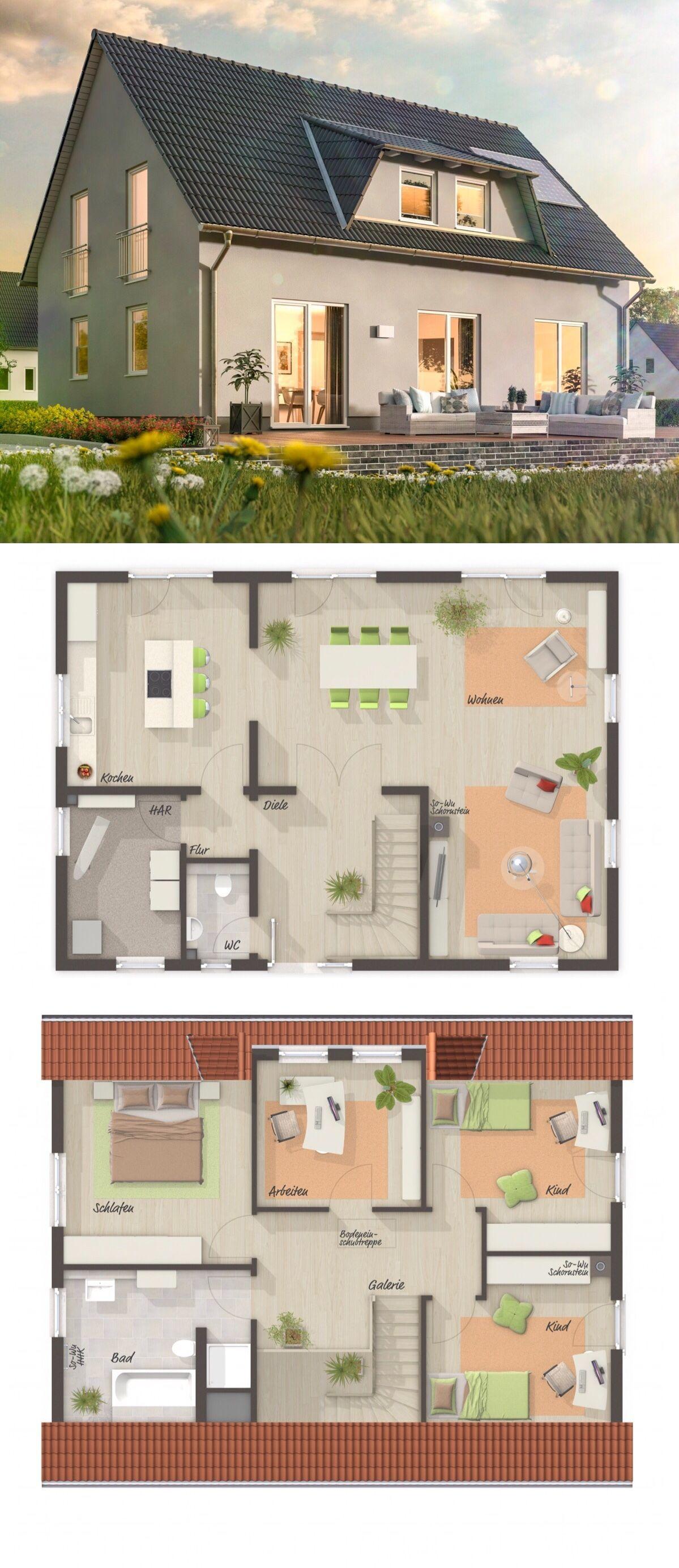 Neubau Einfamilienhaus mit Galerie & Satteldach