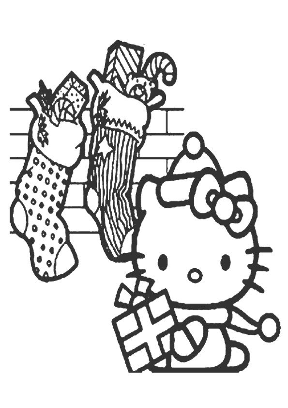 print coloring image - MomJunction   Kitty coloring ...