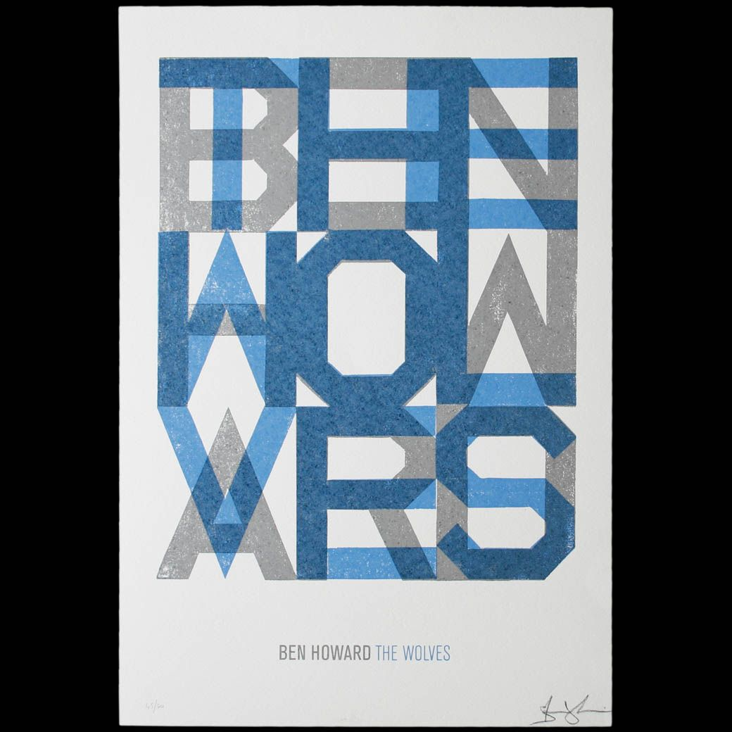 7a41f8f2 Jpg 1040 1040 Ben Howard The Wolves Typography Inspiration Typography Love