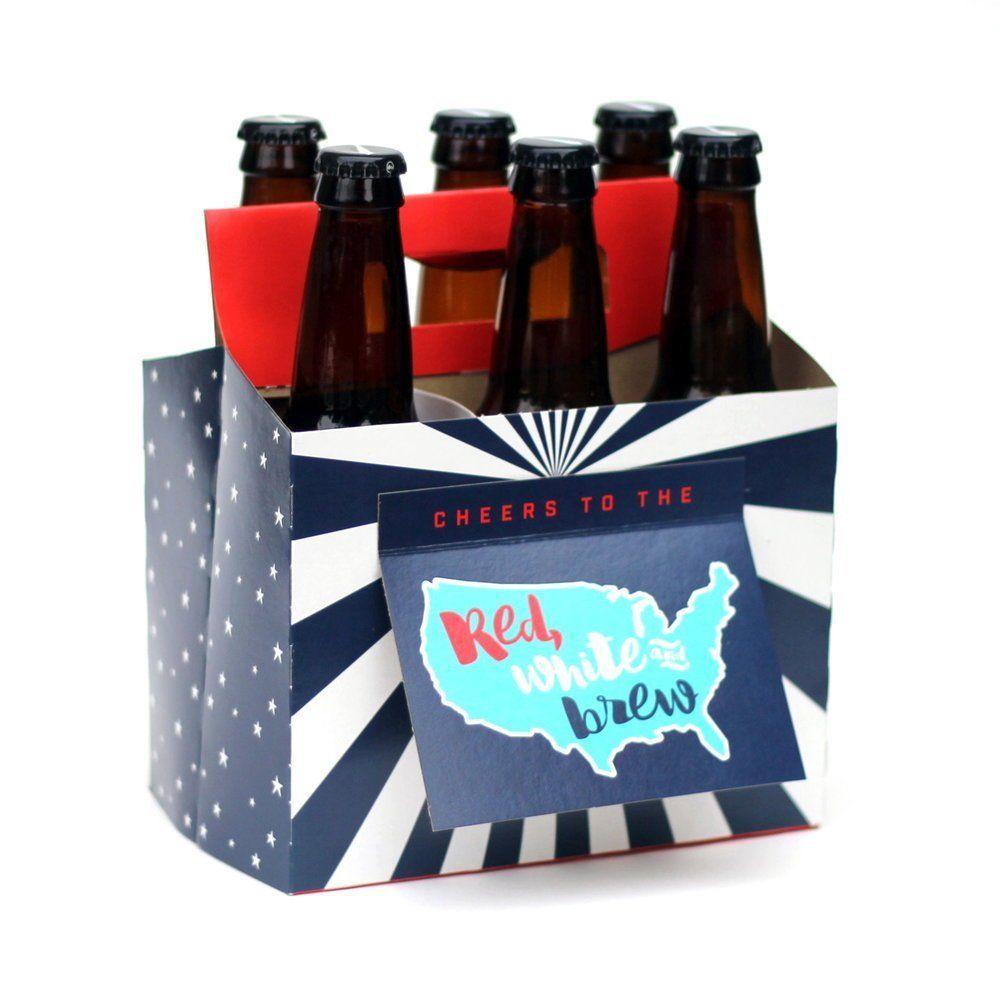 Beer greetings patriotic thanks hooray six pack greeting beer greetings patriotic thanks hooray six pack greeting card box set o kristyandbryce Choice Image