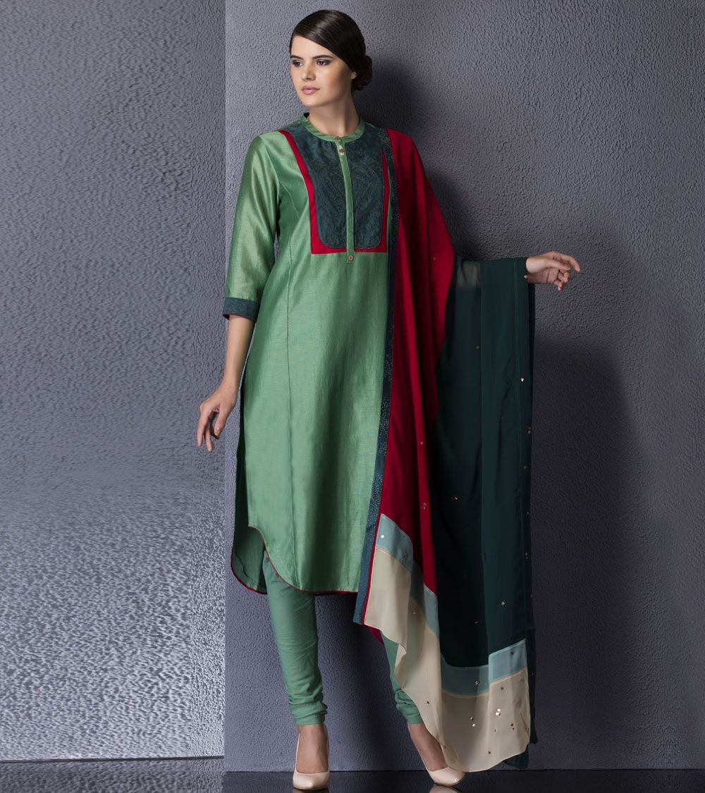 Bottle green long dress  Ankur and Priyanka Modi a truly dynamic team have propelled their