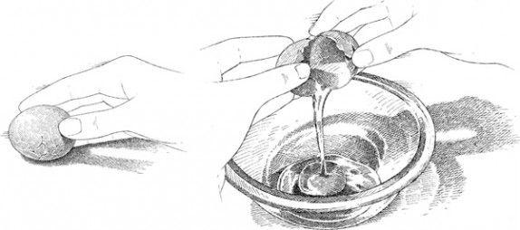 Easier cracked egg