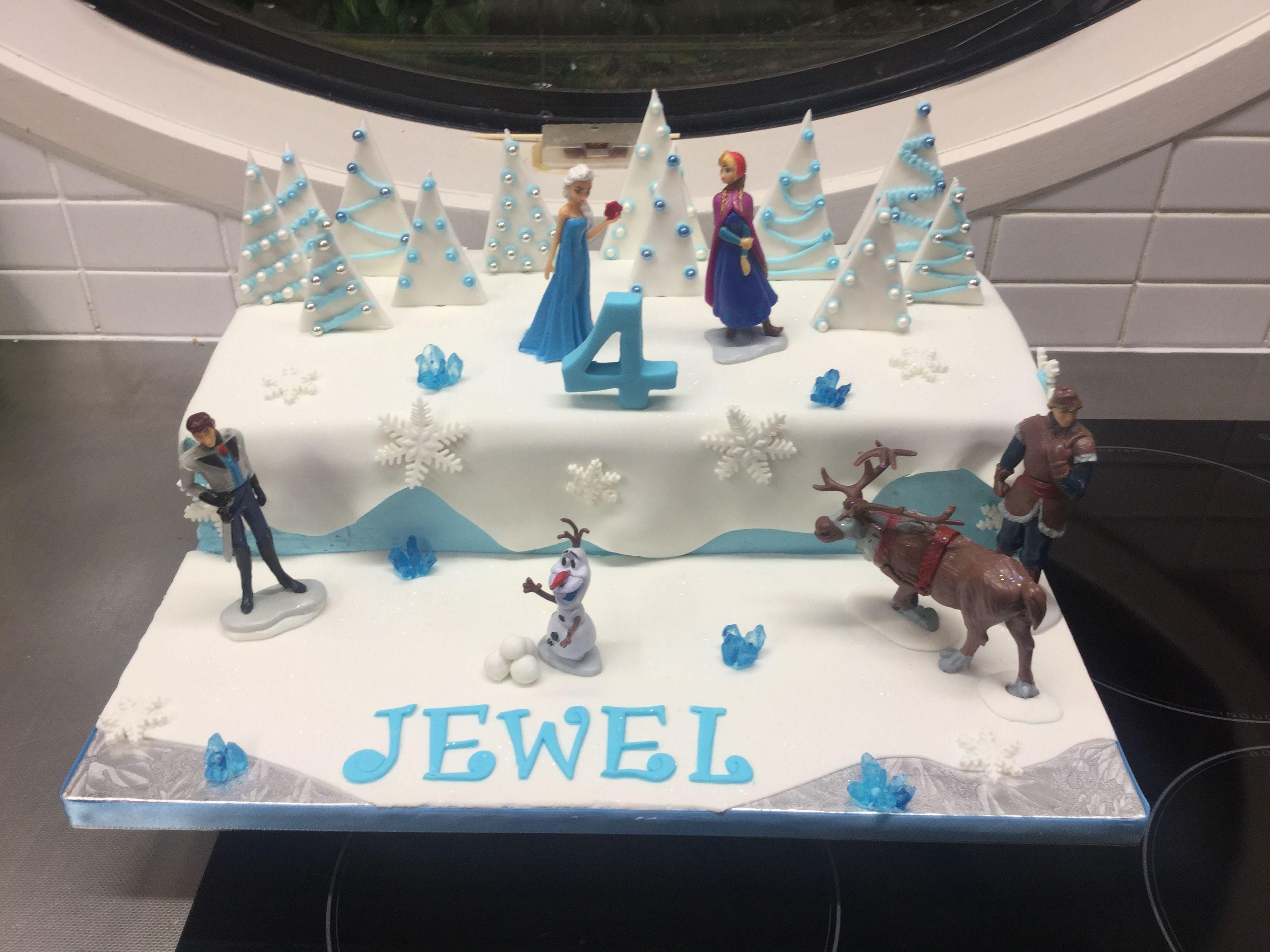 Frozen cake design images  Frozen rectangle cake  Frozen Theme  Pinterest  Rectangle cake