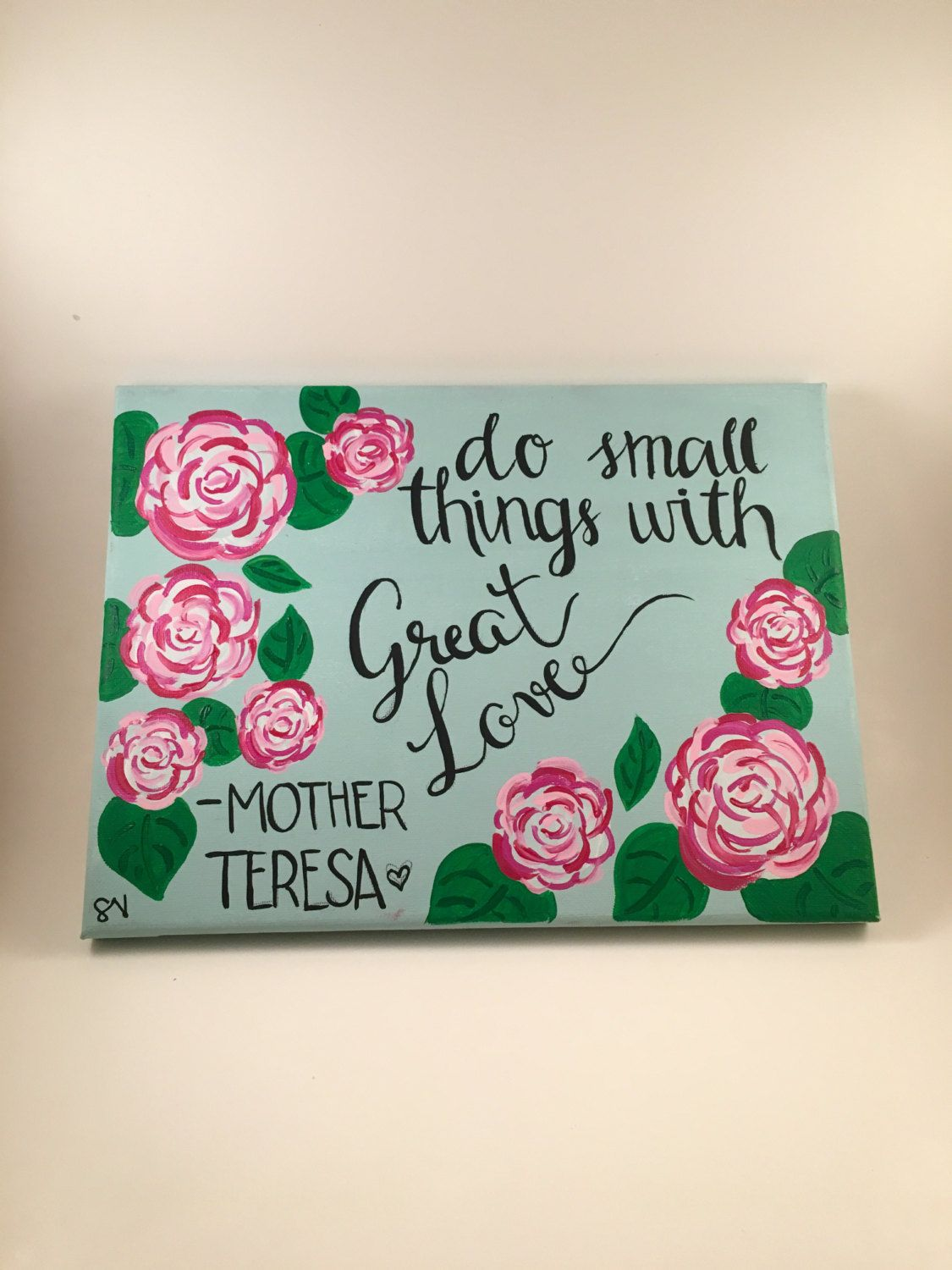 Quote Paintings Do Small Thing With Big Love Canvas Quote Paintingmuseartwork