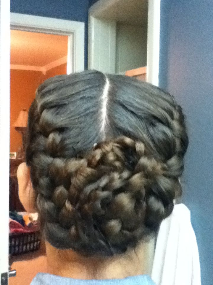 This is my attempt to to the katniss reaping bun