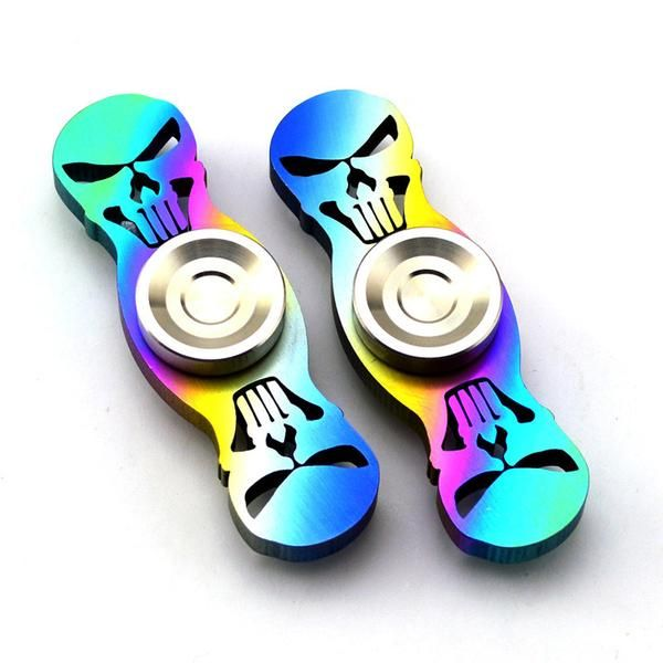 Colorful Skull Head Fid Spinners Anti Stress